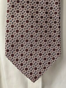 Turnbull & Asser Pastel Pink Geometric Silk Tie - NEW
