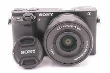 Sony Alpha A6000 24.3mp Cámara Digital - Negro 23 Contador de obturador (16-50mm