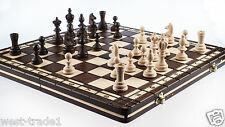 Hand Crafted Wooden Chess and Draughts Set 36cm X