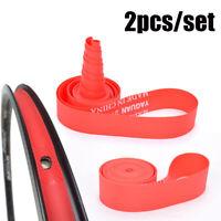 Red Rim Liner Top Bicycle Tire Liner  Anti Puncture Tape Pad Bike Inner Tube
