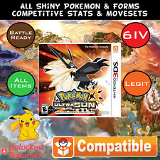 Custom Legit Unlocked Pokemon Ultra Sun - All Pokemon, All Items! 3DS SHIPS NOW