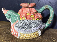 Vintage Duck Tea Pot Decorative Collectors Duck And Foxgloves Teapot
