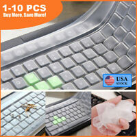 """Universal Silicone Laptop Computer Keyboard Cover Skin Protector Film For 17"""" US"""