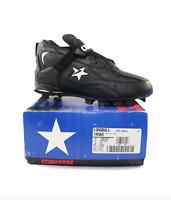 NOS Vintage 90s Converse Cons Longball Mid Baseball Cleats Shoes Black Mens 9.5