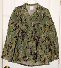 AOR2 SEABEES LARGE LONG LL US NAVY WORK UNIFORM TYPE III BLOUSE
