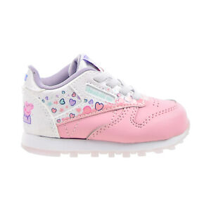 """Reebok Classic Leather """"Peppa Pig"""" Toddlers Shoes Light Pink-White GZ6485"""