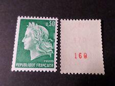 FRANCE 1967 timbre 1536Ab, 3 numéro rouge, CHEFFER, ROULETTE, variété, neuf**