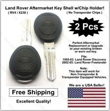 2pak: New Land Rover Key Shell Uncut Key w/ Chip Holder! Fits 1995-04 Discovery