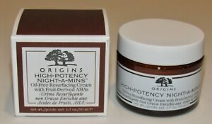 Origins High Potency Night A Mins OIL-FREE Resurfacing Cream 1.7 Oz Moisturizer