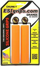 ESI Chunky 100% Silicone MTB Bike Grips Shock Absorbing 32mm / 130mm - Orange