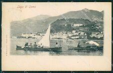 Como Città Lago di Barche cartolina VK0246