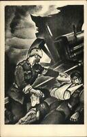 Italian WWI Propaganda Sanatorio Militare di Anzio Wounded Soldiers Art Deco