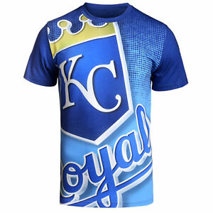 MLB Klew Big Logo T-Shirt Team Color Kansas City Royals