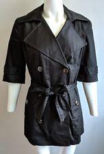 Pink Tartan Black Short Trench Coat Jacket   small