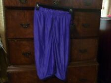 Vintage Nike NOS Deadstock Lycra Spandex Dupont Shiny Purple Pants Knee Length