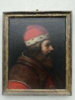 Ritratto olio su tela Aristotele scuola toscana XVI secolo restaurato nel 1994