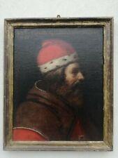 Ritratto olio su tela Aristotele scuola toscana XVII secolo restaurato