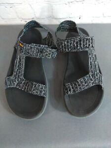 EUC women's TEVA black & gray strappy sandals - SIZE 6 / SUPER CUTE!!!!!