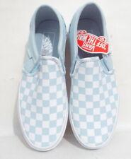 Vans Women''s Asher Classic Checkerboard Slip On Skater Shoes 7.5 Baby Blue