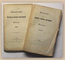 Dorpat Sitzungsberichte der gelehrten estnischen Gesellschaft 1885 2 Bde xy