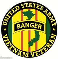 ARMY RANGER VIETNAM VETERAN BUMPER CAR STICKER DECAL
