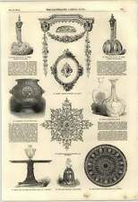 1851 Papier-mâché Ceiling Ornament Bielefield Madras Pottery Ebony