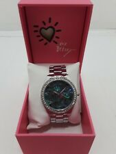 NIB BETSEY JOHNSON LADIES Abalone Swirl Dial Bracelet Watch