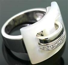 11.35ct Mother Of Pearl & Topaz 925 Sterling Silver Ring, SZ N/7, 30 Day Refunds