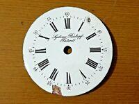 Esfera reloj de bolsillo esmalte 43.5mm pocket watch dial SYSTEME ROSKOPF PATENT