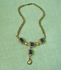 Antique Austria Hungarian Jeweled And Gilt Necklace Maker Signed Out Standing !