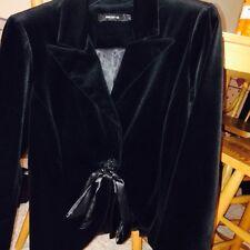 NWOT Arden B Velvet Black Blazer Jacket Coat With Bow Size L