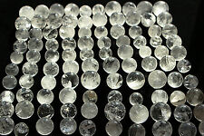 100pcs   NATURAL CLEAR CRYSTAL SPHERE BALL HEALING