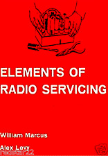 Elements of Vintage Tube Radio Servicing Electronic CD w/  Radio Repair Manual