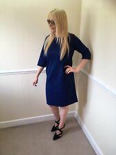 "Vintage 1950-60s Blue Half Sleeve Day Dress Size 14/16? ""Jackie  O"""