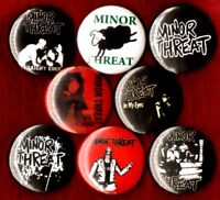 MINOR THREAT 8 NEW button pin badge straight edge filler out of step in my eyes