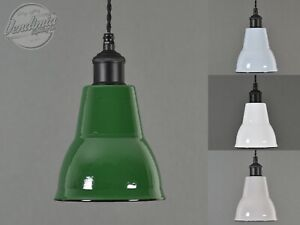 Small Cone Vintage Industrial Factory Enamel Shade Lampshade Steel Pendant