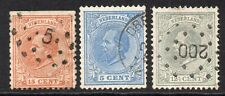 Netherlands 3 Stamps c1872-88 Used No Faults (404c)
