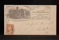 New Hampshire: Sanbornton Bridge 1859 #26 Female College Advertising Cover, DPO