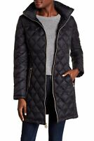 Michael Kors 163898 Women's Missy Packable Hooded Puffer Black Sz. Large