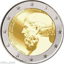 Greece Greek 2 euro 2013    Platon Academy       Commemorate  UNC