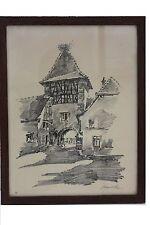 ROBERT KUVEN (1901-1983) - Ortsansicht en Alsace Original-Lithographie (7)
