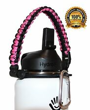 Paracord Strap Handle with Safety Ring and Carabiner for Hydro Flask Accessories