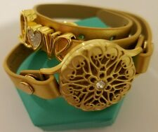 ORIGAMI OWL GOLD SENTIMENTS MEDIUM TWIST LOCKET LOVE SLIDER GOLD WRAP BRACELET