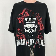 Tapout Mens Kimbo Slice Skull T-Shirt L Been A Long Time MMA Mixed Martial Arts