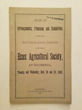 Arrangements, Premiums & Committees, Essex Agricultural Society, 1882 Exhibition