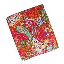 Red Paisley Indian Kantha Quilt Blanket Bedspread Bedding Gudri Throw UK