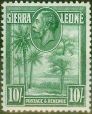 Sierra Leone 1932 10s Green SG166 Fine Mtd Mint