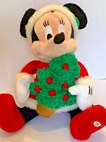 Christmas Minnie Mouse Animated Musical Light Up Motionette Plush Disney