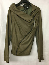Muubaa Women's Cement Drape Leather Jacket. M1280. Size UK 10. RRP £399.