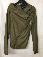 Muubaa Women's Cement Drape Leather Jacket. M1280. Size UK 10. RRP £399.